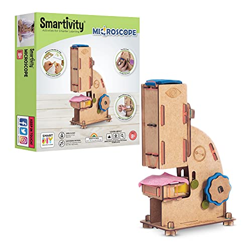 Smartivity Microscope 100x Zoom Science STEM DIY Fun Toys, Educational & Construction based Activity Game for Kids 8 to 14, Gifts for Boys & Girls, Learn Science Engineering Project, Made in India