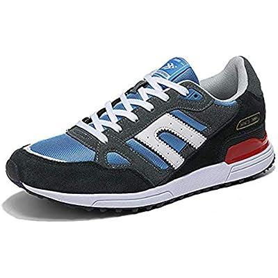 AX BOXING Zapatillas Hombres Deporte Running Sneakers Zapatos para Correr Gimnasio Deportivas Padel Transpirables Casual 40-46 (43 EU, Azul Amarillo)
