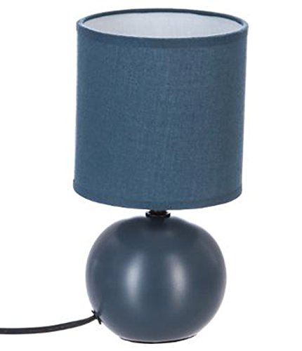 PEGANE Lampe à Poser en céramique Finition Orage Mate - Dim : D 13 x H 25 cm