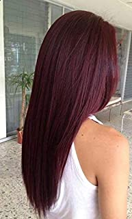 Hetto Micro Ring Human Hair Hair Extensions #99J Wine Color Individual Loop Ring Hair Extensions Micro Tipped Hair Extensions 50Gram Seamless Hair 16Inch