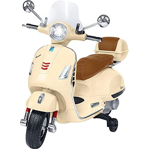 Farano Store – Moto eléctrica para niños Vespa GTS Piaggio Crema con...