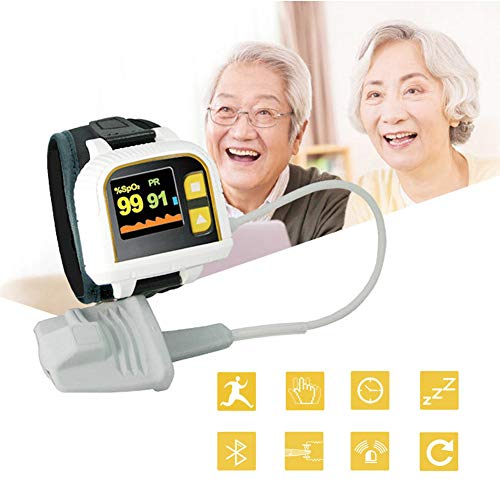 Pols Vingertop Pulsoximeter, Bluetooth Hartslagmeter, Slaap Monitoring, APP Ondersteuning, Twee-Weg Rotatie, PC Analyse Software, Smart Alarm