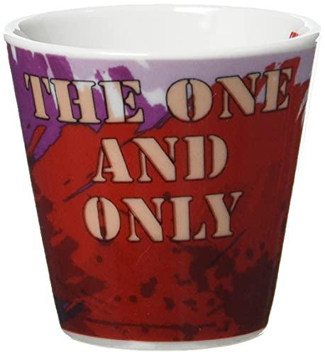Egan PPU83/4S Kaffeebecher, Modell Schlumpf, Porzellan, Rot, 4 Stück