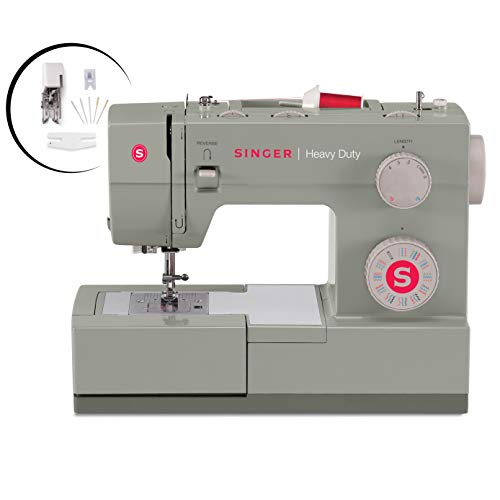 Singer  Heavy Duty 4452 Sewing Machine With Accessories, 32 Built-In Stitches, 60% Stronger Motor,...