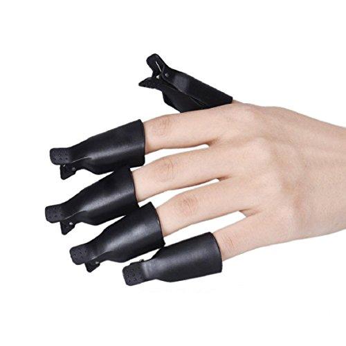 Naladoo 10PC Plastic Nail Art Soak Off Cap Clip UV Gel Polish Remover Wrap Tool (#001)