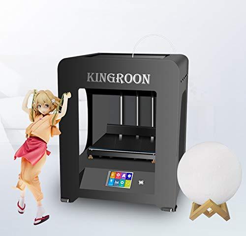 HARTI Impresora 3D De Gran Espesor Volumen 200 X 200 X 210 mm Y 0,1 mm De Alta Precisión De Impresión, Funciona con PLA, Nylon, Eco - ABS Y PETG Filamento, A Todo Color De Pantalla Táctil