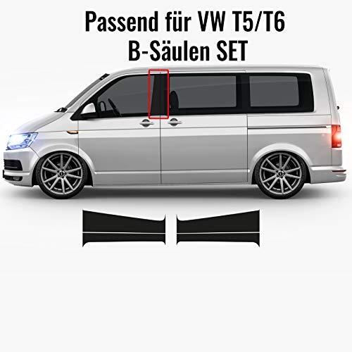 1A Style Sticker B-Säulen Aufkleber passend für VW T5 und T6 (Schwarz Glanz)