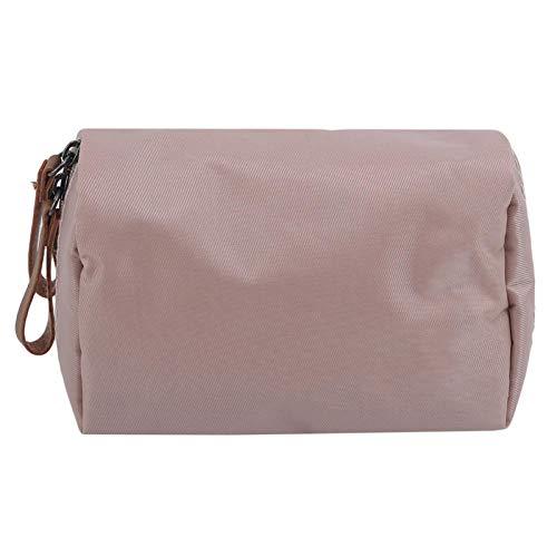 Solide Cosmétique Sac Femmes Maquillage Sac Style Poche Trousse De Toilette Étanche Organisateur Case14 * 5 * 10 cm-Peach_Pink_14 * 5 * 10 cm