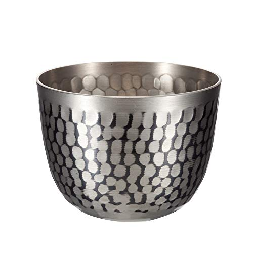 新光金属 ぐい呑み 錫被仕上げ 80ml 純銅錫被仕上げ 鎚目ぐい呑み SA-0114