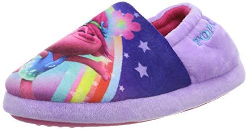 Trolls Girls Poppy Purple Slipper Elasticated Slip On UK 13 (EUR 31.5)