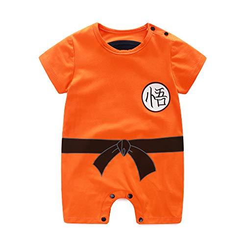 Manga Corta Bebé Niño Y Niña Dragon Ball Z Romper Disfraz Ropa Bebé