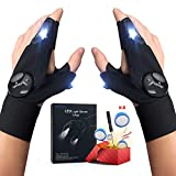 LED Flashlights Gloves,Flashlight Glove Tool Cool Gadgets Gifts for Men/Women,Perfect for Handyman, Camping, Fishing,Repair, Cool Gift for Dad - 1 Pair
