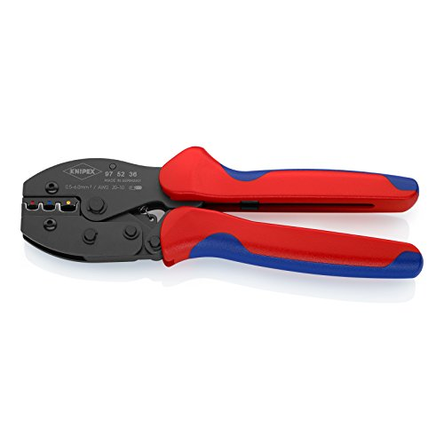 KNIPEX 97 52 36 PreciForce® Crimpzange brüniert mit Mehrkomponenten-Hüllen 220 mm