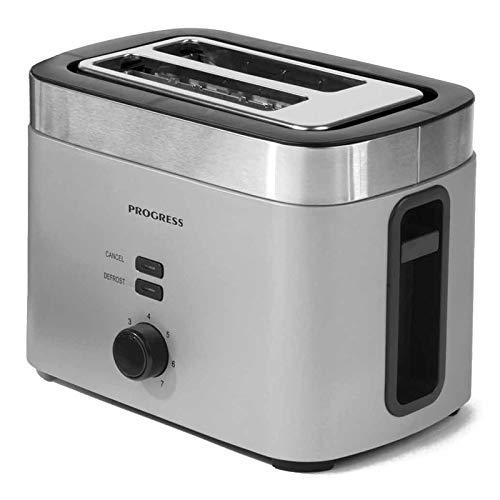 Progress EK3215TITANIUMP-VDE Metallics Vega 2-Scheiben-Toaster mit Eurostecker, 930W, Titan