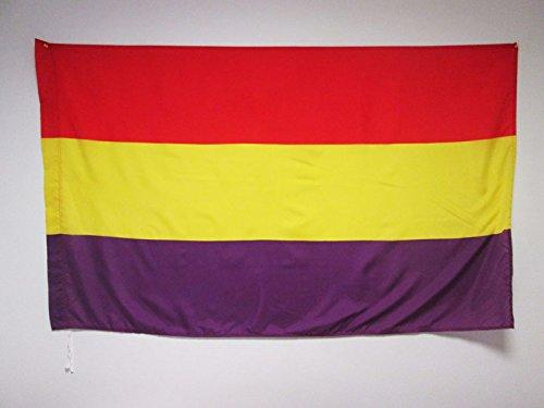 AZ FLAG Bandera ESPAÑA Republicana SIN Escudo 150x90cm para Palo - Bandera DE LA Republica ESPAÑOLA 90 x 150 cm