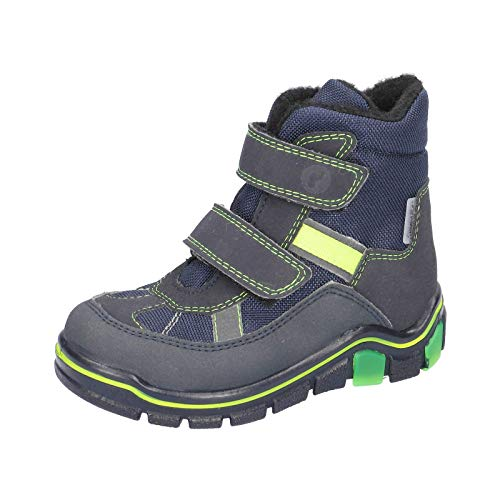 RICOSTA Kinder Winterstiefel Gabris, Weite: Mittel (WMS),wasserfest,waschbar, Winter-Boots Outdoor-Kinderschuhe gefüttert,See/Ozean,33 EU / 1 UK