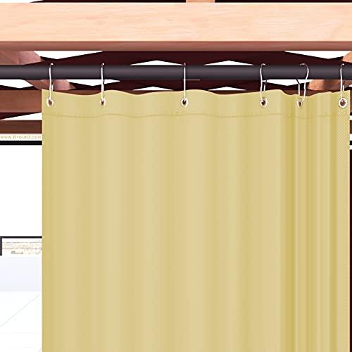 Byour3 Toldo para exterior con anillas de caída, impermeables, antimoho, tejido lavable de calidad A++, lonas parasoles laterales, pérgola para porche, 250 x 315 cm