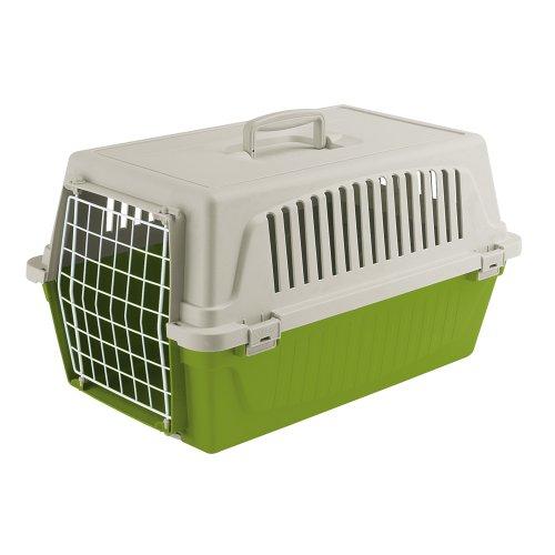 Ferplast 73008199W1 Atlas 20 EL Katzen und Hunde Transportbox, 58 x 37 x H 32 cm, grün