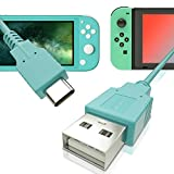 USB C Charger for Nintendo Switch, Fast Charging Cable for Nintendo Switch, MacBook, Pixel C, LG Nexus 5X G5, Nexus 6P/P9 Plus, One Plus 2, Sony XZ and More - Animal Crossing Blue (4.92ft)