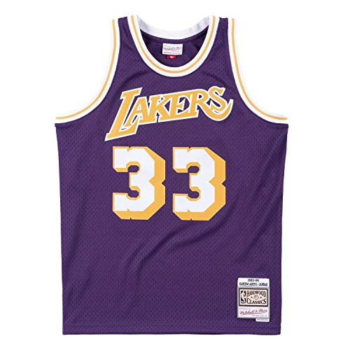 Mitchell & Ness Swingman LA Lakers 1983-84 Kareem Abdul-Jabbar - Camiseta (talla S)