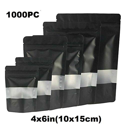 Lowest Price! Durable and Wonderful 1000PC - 4x6in(10x15cm) Foil Mylar Matte Stand Up Zip Lock Bag w...