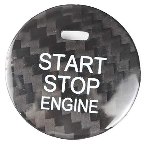 YDong para Axela Atenza Cx-8 Cx-3 Cx-4 Cx-5 BotóN de Interruptor de Arranque del Motor de Fibra de Carbono Ajuste de la Cubierta Adhesivos Accesorios Negro