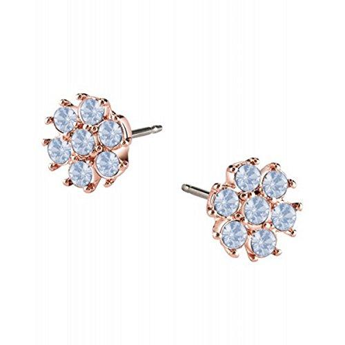 Guess Pendientes para mujer California Sunlight de acero inoxidable y cristal azul UBE61072