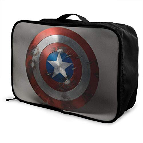 Captai America Shield Travel Duffel Bag Storage Packet Folle Waterproof Lightweight Portable High Capacity Tote