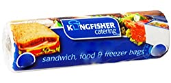 200 Sandwich, Food and Freezer Bags Size Large Boxed on a roll for ease of use Just pull one out each time you want one and tear it off the roll