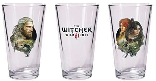 Dark Horse Deluxe The Witcher 3 Wild Hunt Geralt & Triss mit Yennefer Pint-Glas Set