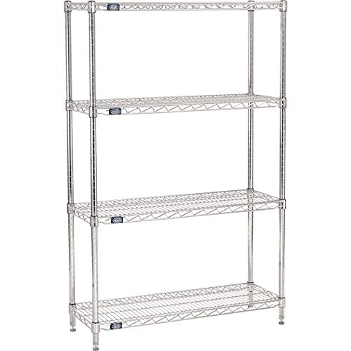 Nexel Adjustable Max 66% OFF Wire Shelving Unit Dry Max 48% OFF 4 Tier Commercial Stor
