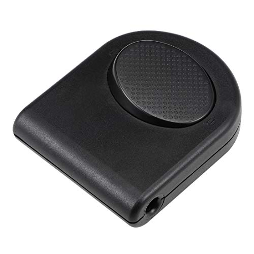 uxcell Inline Foot Pedal Push Lamp Switch, Step-on-button Lighting Foot Control ON/Off Footswitch Black