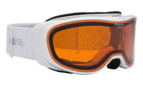 ALPINA Erwachsene Skibrille Bonfire 2.0 DH, White, One size, 7234111