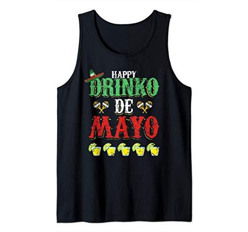Happy Drinko de Mayo Tequila Cool Cinco de Mayo Fiesta Canotta