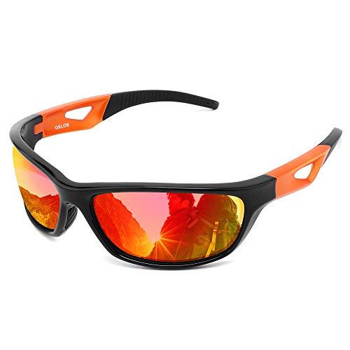 OSLOB Gafas de sol polarizadas deportivas para las mujeres hombres Ciclismo Correr conducción UV protección gafas ST003