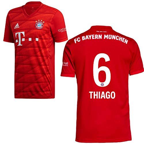 adidas FCB FC Bayern München Trikot Home Heimtrikot 2019 2020 Herren Thiago 6 Gr L