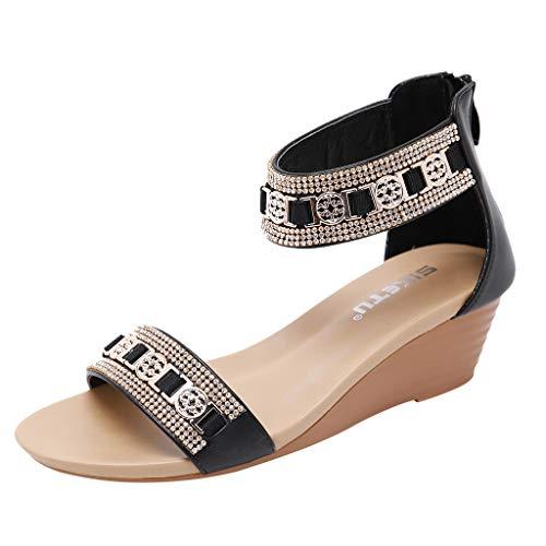 Luckycat SeñOr Roman SeñOras Sandalias Bizcocho Hembra Flat-Bottomed Gruesos Zapatos De Cuero De Un Gran NúMero De Estudiantes Zapatos De Mujer