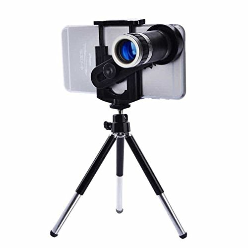 Shahn Macroid 8X Zoom Universal Mobile Phone Telescope Camera Lens with Tripod and Adjustable Holder