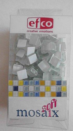 MosaixSoft 10x 10x 4mm 200g 215-piece Glas Fliesen, weiß