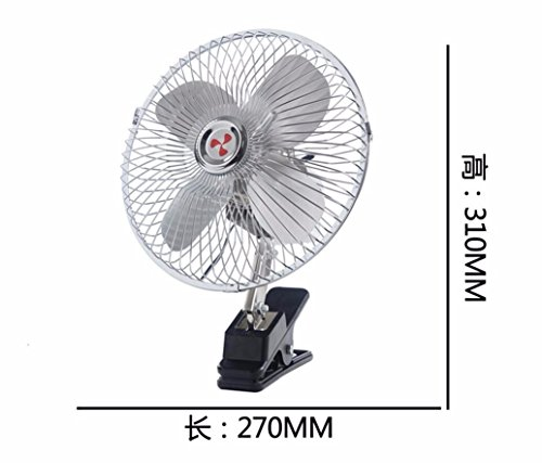 JISHUQICHEFUWU Ventilateur/Voiture avec Petit Ventilateur/Ventilateur Rotatif/pièces Auto, B, 24V