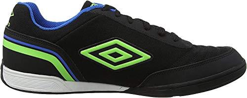 Umbro Futsal Street V, Zapatillas de fútbol Sala para Hombre, Negro (Black/Green Gecko/Electric Blue FCH), 41 EU