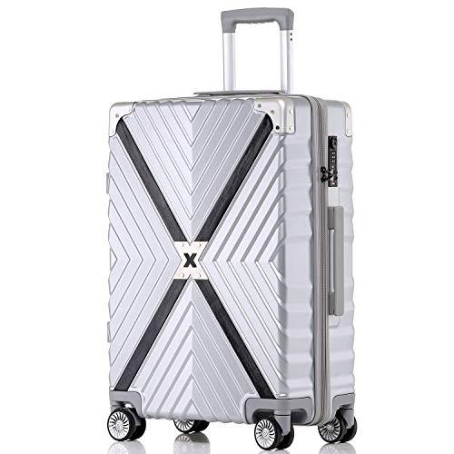 ボンイージ(bonyage) スーツケース ファスナー式 超軽量 TSAロック付 8輪 多段階調節 機内持込 旅行出張 1年保証 シルバー silver Sサイズ 約37L