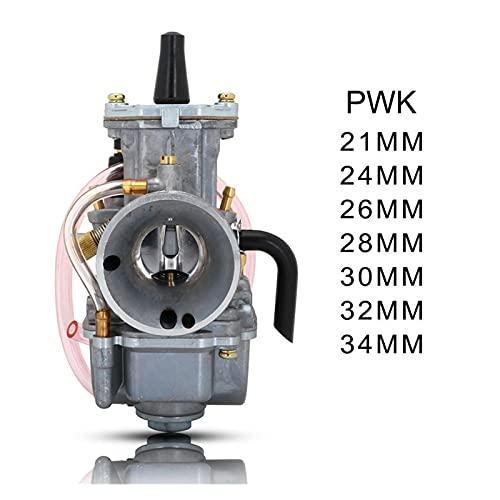 XINLIN Ruderude 21 Mm 24 Mm 26 Mm 28mm Universal PWK Carburetor Carburador Ajuste para Maikuni Keihin Koso Oko 2T 4T Motor Motorcycle Scooter UTV ATV (Color : 24MM)