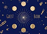Guest Book: Mystic Moon Phases | For celestial and cosmic themed weddings, bridal and baby showers, parties and celebrations | 250 guests and their messages