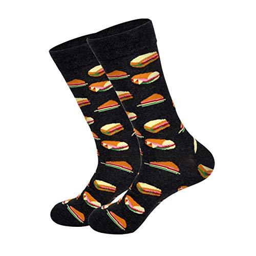 WLQXDD Spezielle Geschenksocken Hip Hop Männer Socken Baumwolle Lustige Crew Socken Tier Katzenfutter Frauen Socken Neuheit Geschenk Socken Für Frühling Herbst Winter