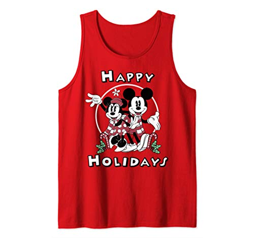 Disney Mickey And Minnie Mouse Happy Holidays Christmas Tank Top