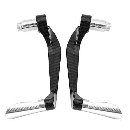 Motorrad Bremshebel Kupplungsschutz Kupplung Kompatibel, Carbon Lenker Schützen Schutz Aluminiumlegierung Faser Motorrad Bremse Kupplungshebel Lenker Schützen Schutz (1 Para)(Titanium)