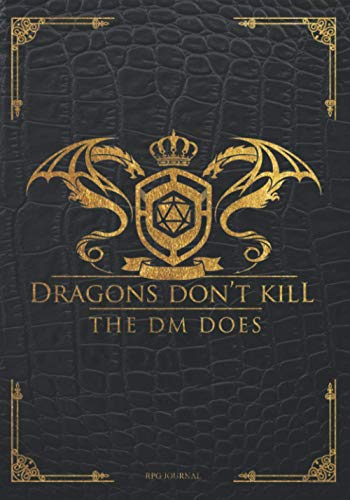RPG Journal: Dragons don't kill The DM does: Record Keeping for role playing gamers: Notes, tracking, mapping, terrain plans | GM & players | Perfect accessory for Fantasy Tabletop Role-Playing Games