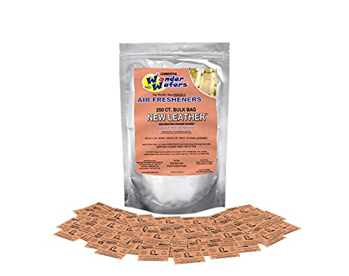 Wonder Wafers 250 Count New Leather Unwrapped Automobile Professional Use Air Fresheners Car and Truck Detail