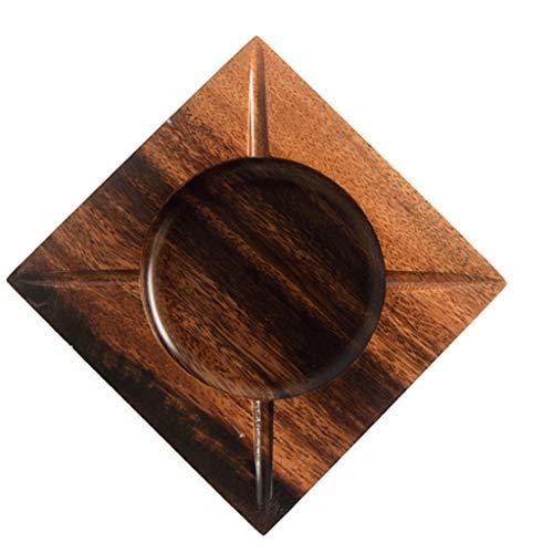Cenicero Cenicero De Cigarrillos Inicio cenicero cuadrado de madera Oficina Cenicero Cenicero de interior al aire KTV resistente al calor de escritorio cenicero Cenicero para puros para uso en interio